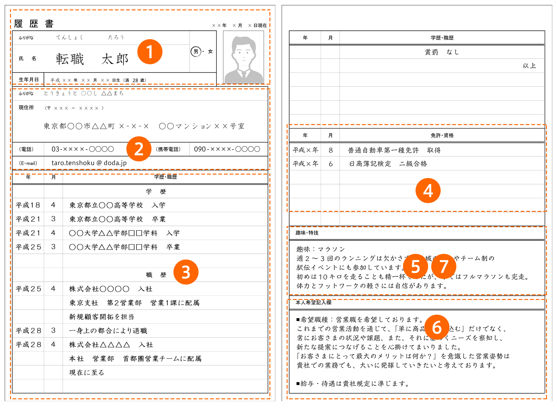 【履歴書】正しい書き方 完全ガイド ~見本・テンプレート ...